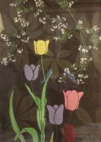tulipes et ombelles by alfred lesbros