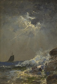 rough seas by william trost richards