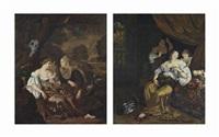 la mort de cléopâtre : junon et sémélé (pair) by c. van ritten