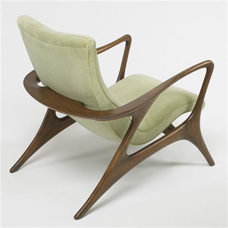 Superieur Contour Lounge Chairs (pair) By Vladimir Kagan