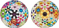 flower ball (3-d) sunflower (+ flowerball cosmos (3d) and 2008; 2 works) by takashi murakami