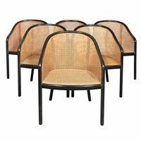 set of six landmark chairs by ward bennett