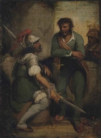 soldiers at rest by john hamilton mortimer