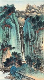 山水 立轴 纸本 by xie zhiliu