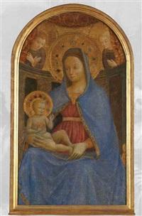 madonna con il bambino e angeli by andrea da firenze (giusto manzini)