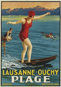 lausanne - ouchy/plage by johann emil müller