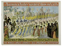 barnum & bailey - the spectacle of balkis by posters: circus