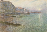 sunset, the whitby coast by harry goodwin