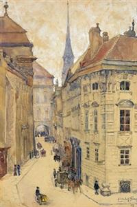 augustinerstraße, blick zum josefsplatz by elisabeth jung