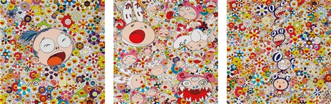 new day self portrait new day dob totem pole and new day lots lots of kaikai and kiki 3 works by takashi murakami