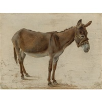 a donkey by jacques-laurent agasse