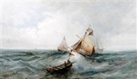 boats at sea by w. webb
