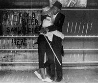 coney island (couple kissing) by leon levenstein