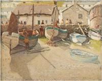fishing boats at sennen by charles walter harvey