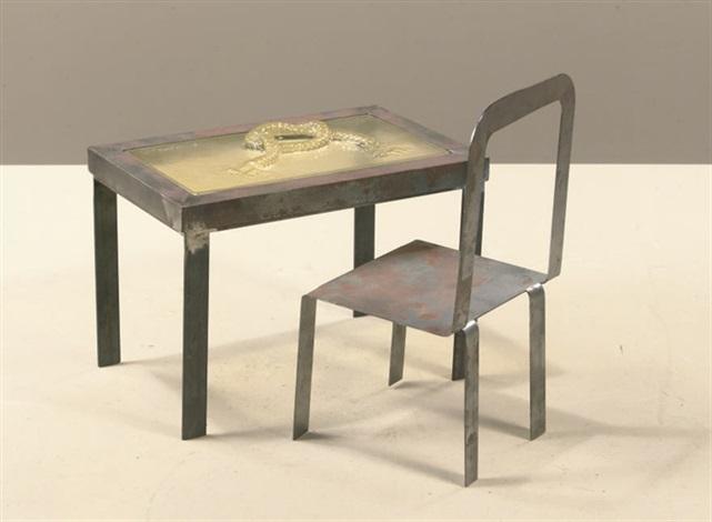 Eetstoel Met Tafel.Tafelknoop Met Stoel 2 Works By Klaas Gubbels On Artnet