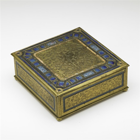art deco cigar box by louis comfort tiffany