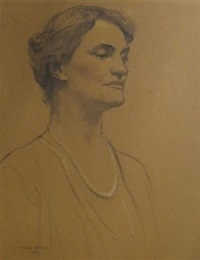 portrait of hannah clothier hull, quaker pacifist, swarthmore college by violet oakley