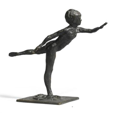 danseuse arabesque ouverte sur la jambe droite le bras gauche en avant by edgar degas