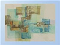 komposition in grün und blau by ingrid reineke