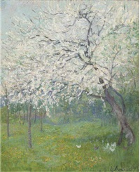 an orchard in spring by eugene j. ancelot