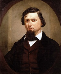 portrait of a gentleman by eliphalet frazer andrews