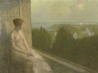 a sunset seen from the balcony by louis picard