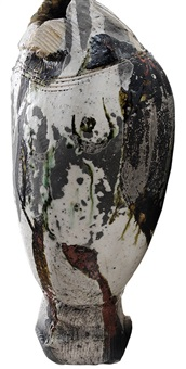 raku pottery nudes vase by paul soldner