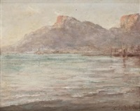 old cape town harbour by edward clark churchill mace