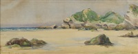 rocky beach by alfred thompson bricher