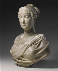 bust of marie-louise of austria, wife of napoleon i (collab. w/workshop) by lorenzo bartolini