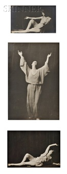 studies of isadora duncan (3 works) by arnold genthe