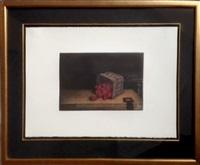 strawberries and basket by tomoe yokoi