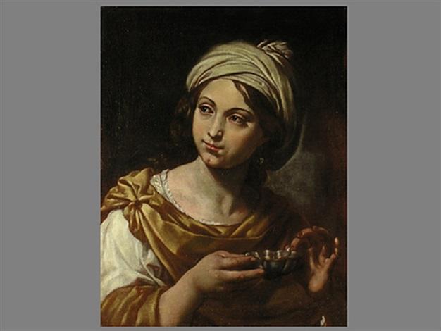 portrait einer jungen frau mit weinprobierschale by flaminio dagli ancinelli torri