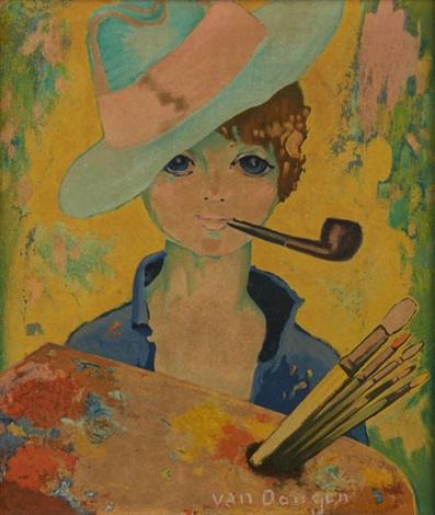 jeune peintre à la palette by kees van dongen