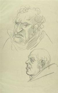 zwei männliche porträts by adolf von hildebrand