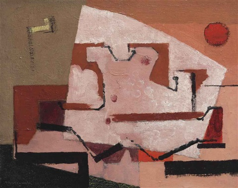 coquillage au soleil rouge by louis marcoussis