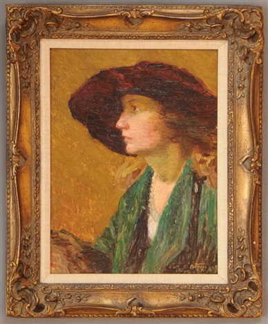 lady with hat by edward henry potthast