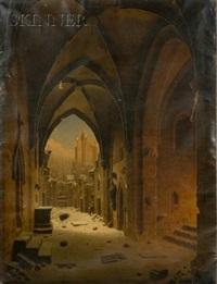 klester ruin... um winter abine by carl georg adolph hasenpflug