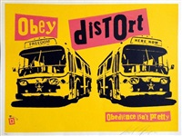 obey pistols set (2 works) by shepard fairey