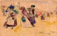 schilderdag aan het zomerse katwijkse strand by willy sluijter
