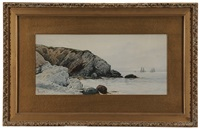rocky coastal scene by alfred thompson bricher