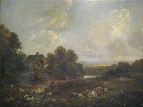 landscape with cattle by richard h hilder