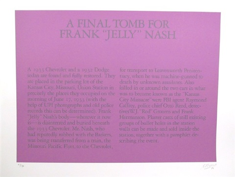 a final tomb for frank jelly nash by robert morris