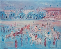 les courses by jean dufy