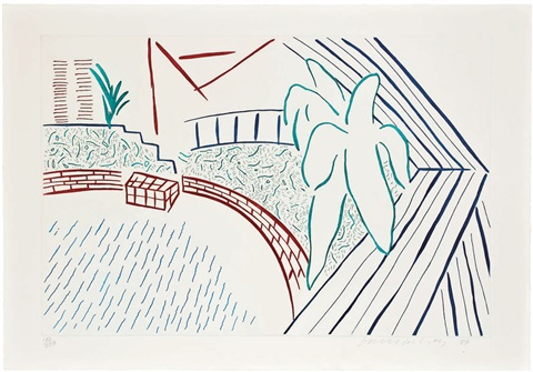 my pool and terrace eight by eight to celebrate the temporary contemporary by david hockney