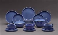 frühstücksserviceteile (set of 21) by gmundner keramik