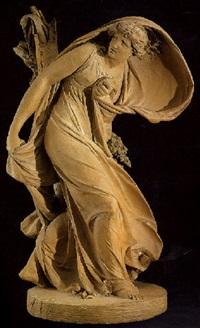 une jeune femme surprise par la tempête by jean baptiste stouf