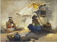 marktscene, java (market scene, java) by gerard adolfs