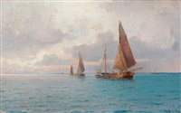 evening at sea by ludvig otto richarde