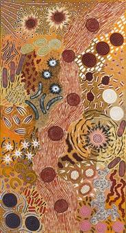 le rêve du feu du bush/bushfire dreaming by nungarrayi michelle possum